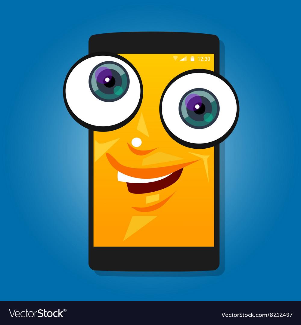 Smart phone mobile big eyes character cartoon