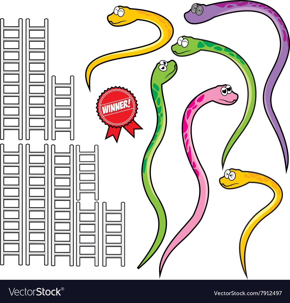 Snake and ladder set