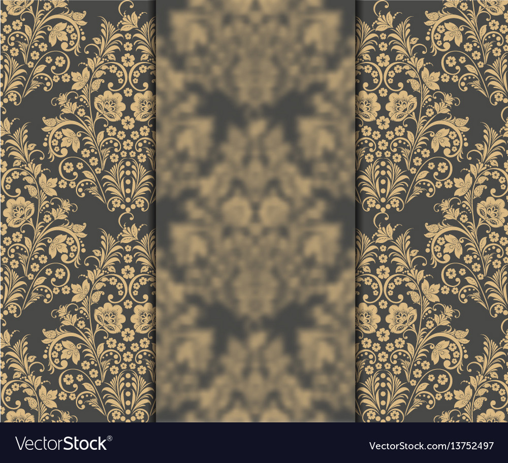 Vintage floral card vector image