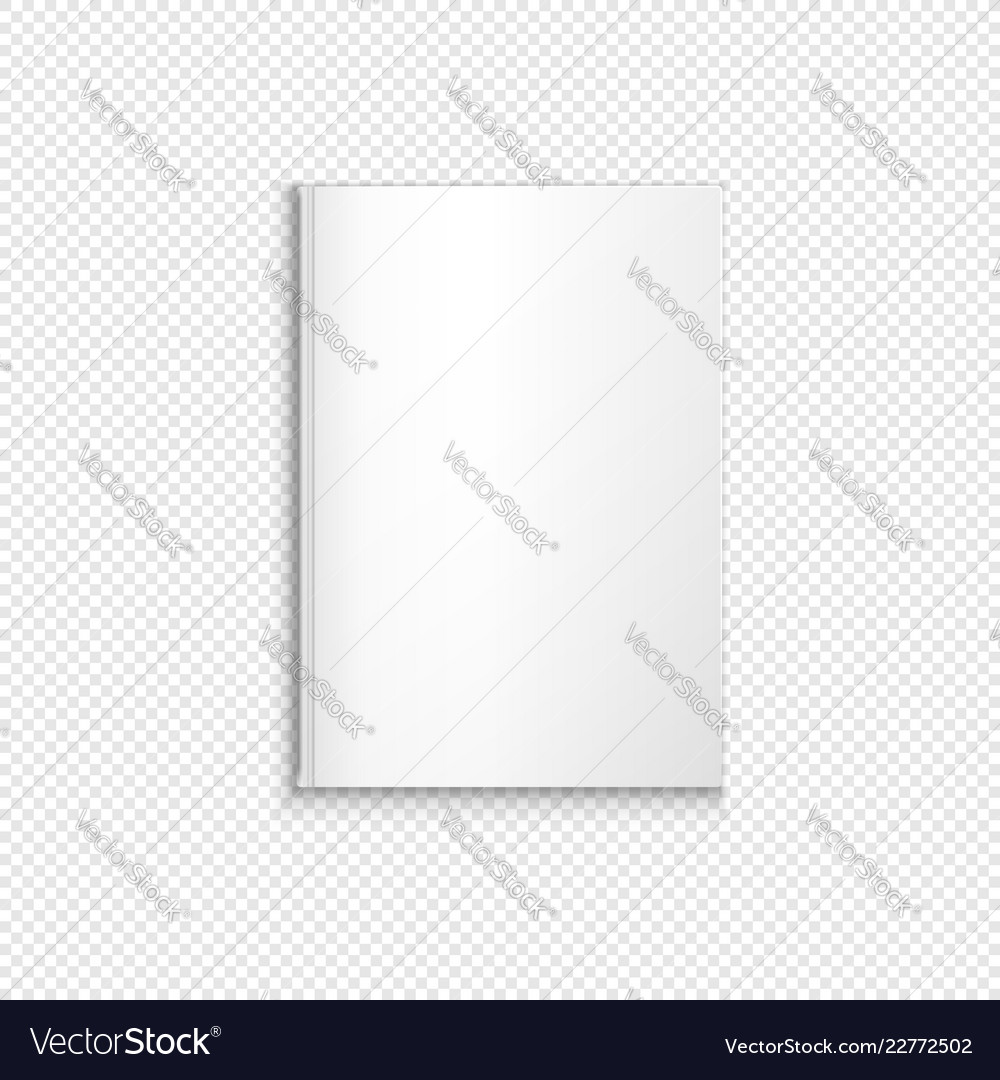 Blank book template mockup