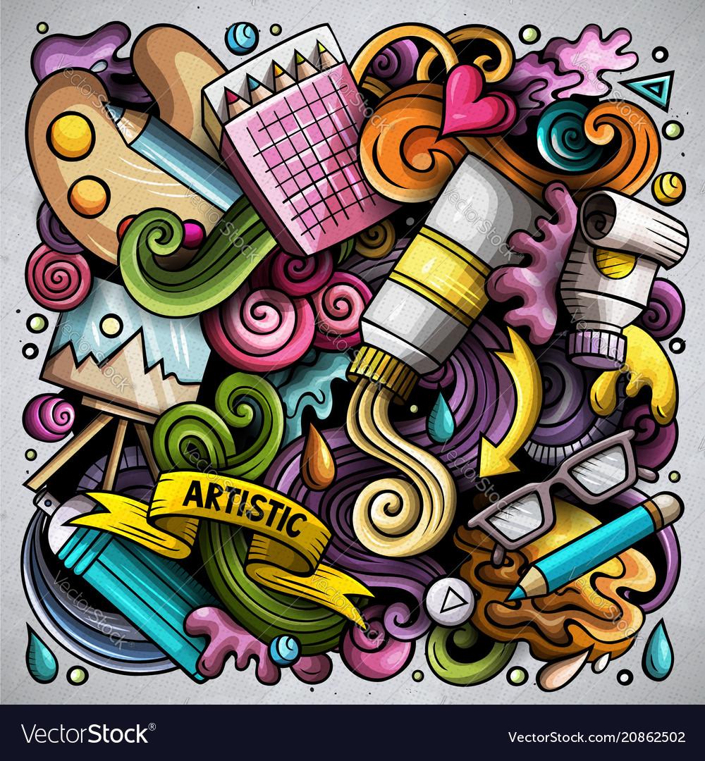 Cartoon doodles art and design