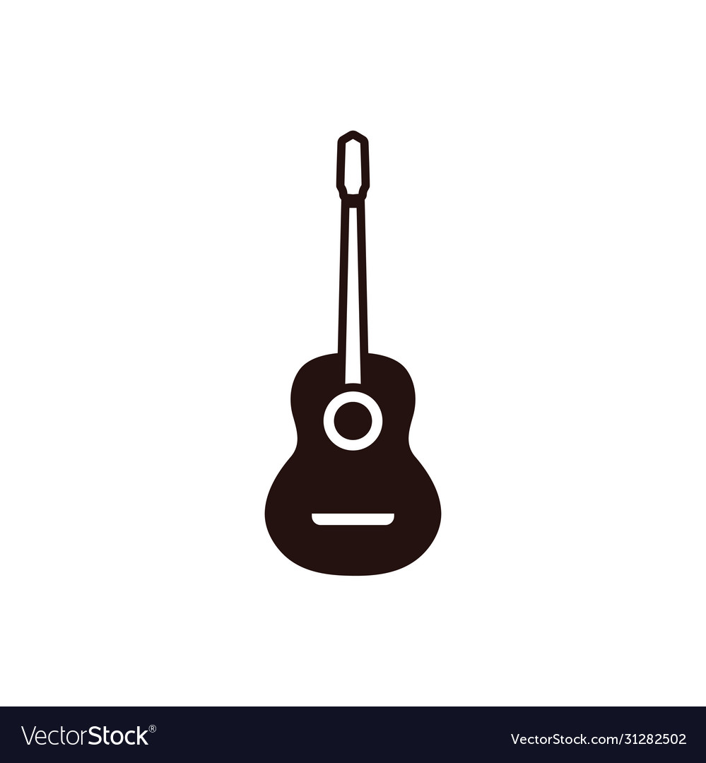 Guitar graphic design template isolated