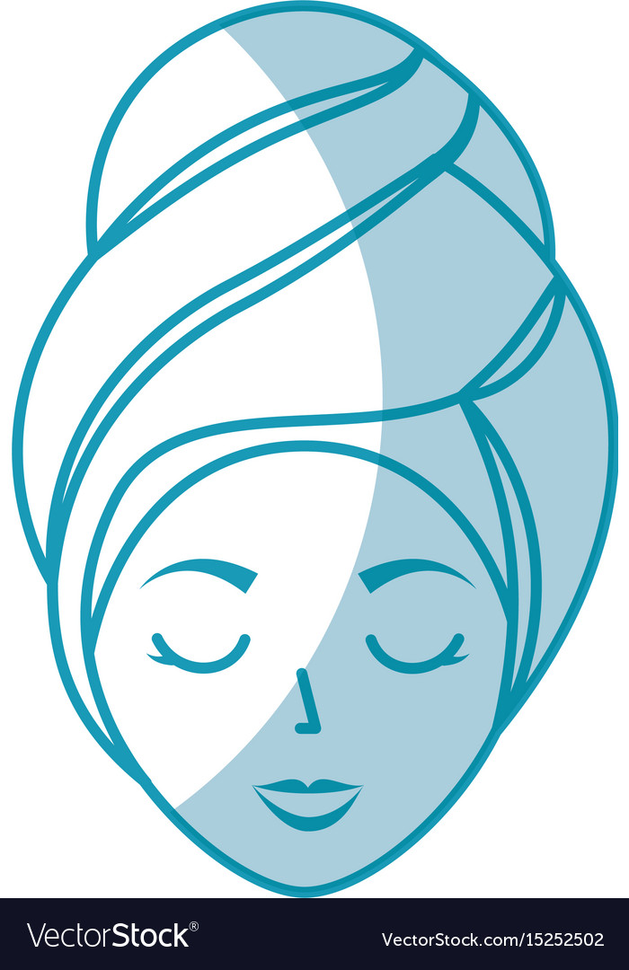 Head woman with towell vector image