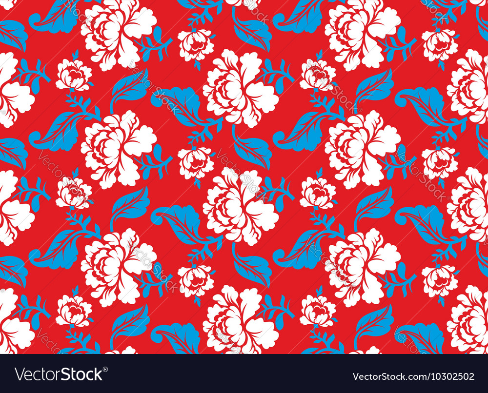 Russian national flower pattern Colors of Russia