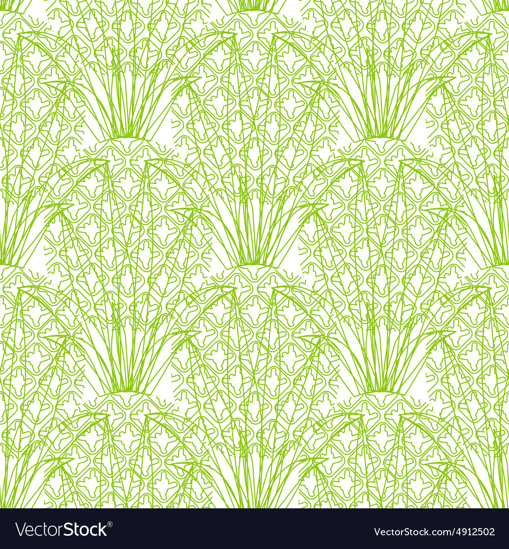 Seamless repeating pineapple pattern on