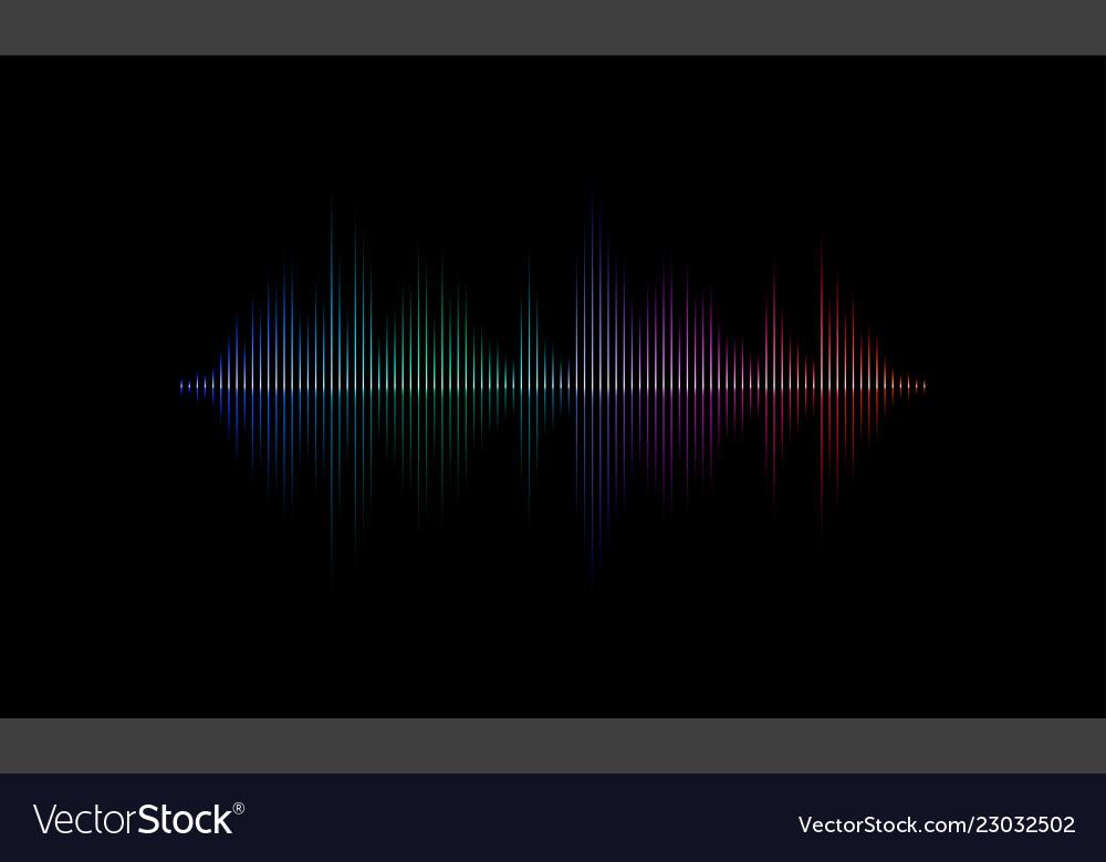 Sound radio audio light wave background