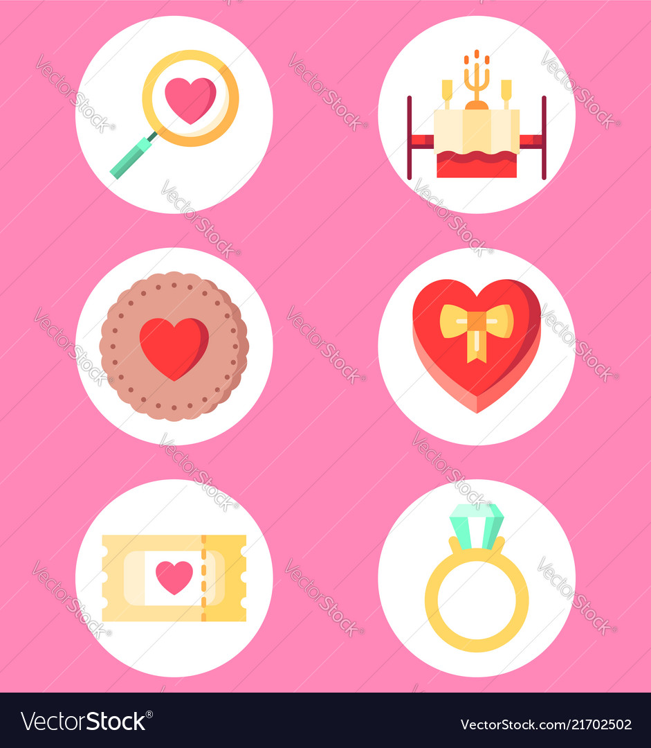 Valentine day set icon sign symbol