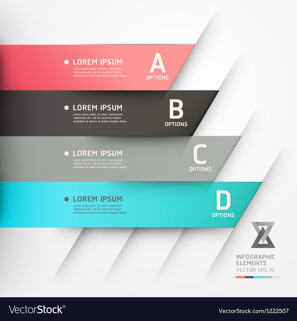 Abstract origami options banner