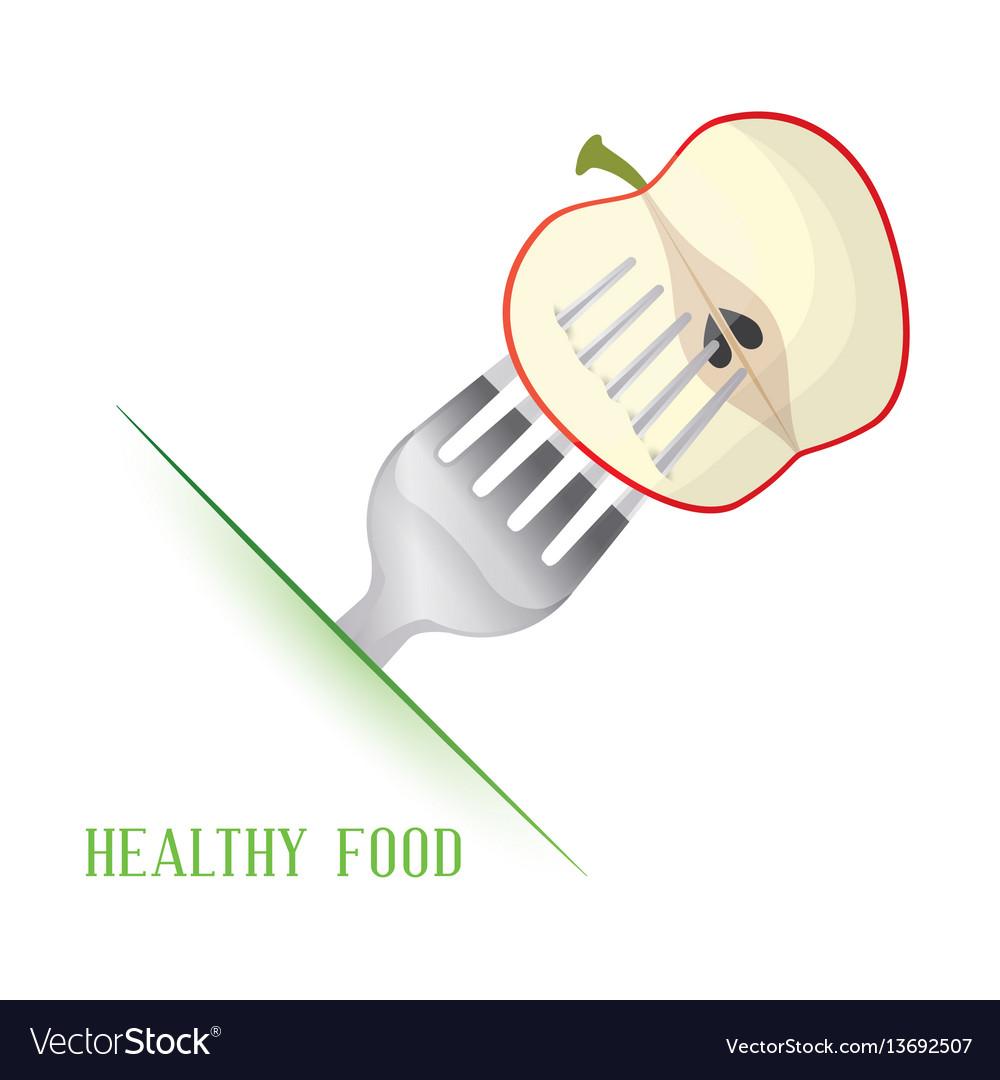 Apple healthy food diet vector image
