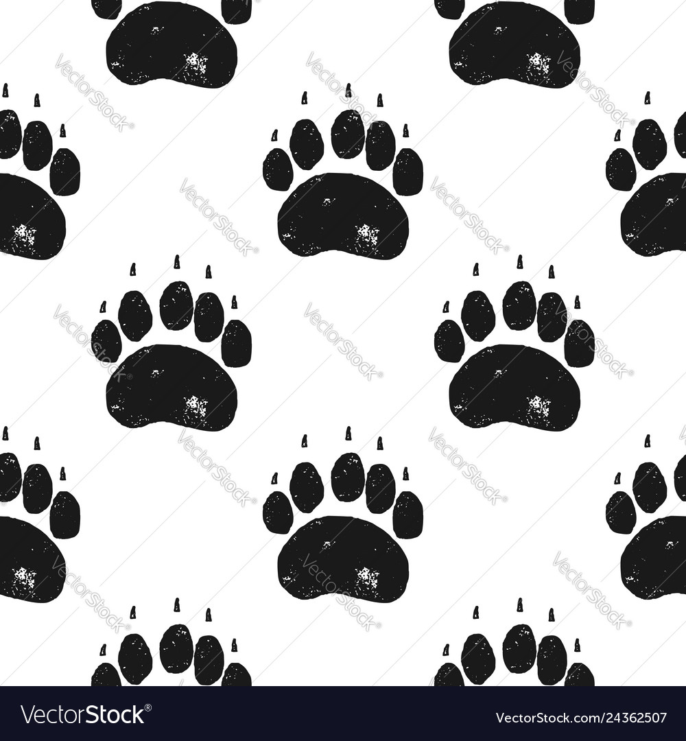 Bear paw pattern bear claw seamless background