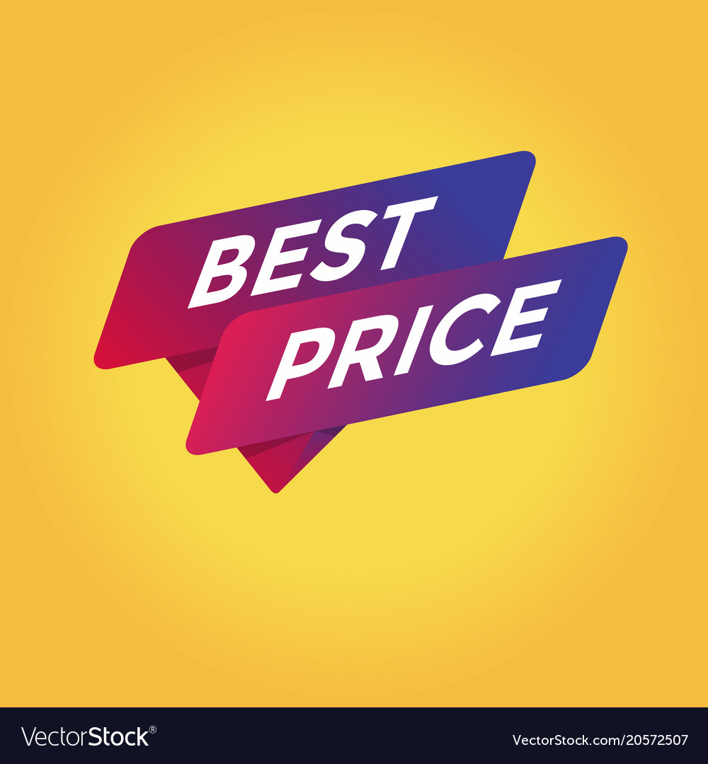 Best price tag sign icon
