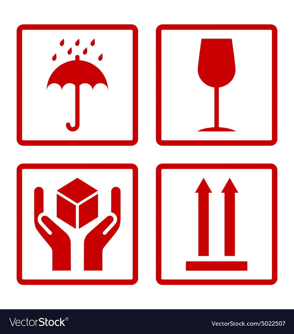 Cardboard Symbols Royalty Free Vector Image Vectorstock