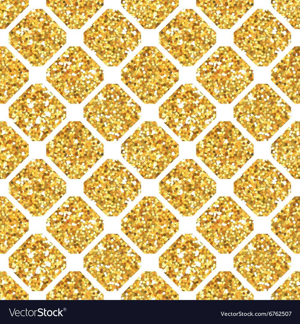 Golden Geometry Glitter Background