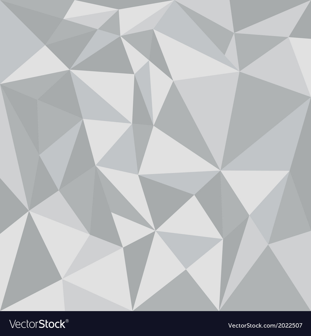 Grey triangle background or flat seamless pattern