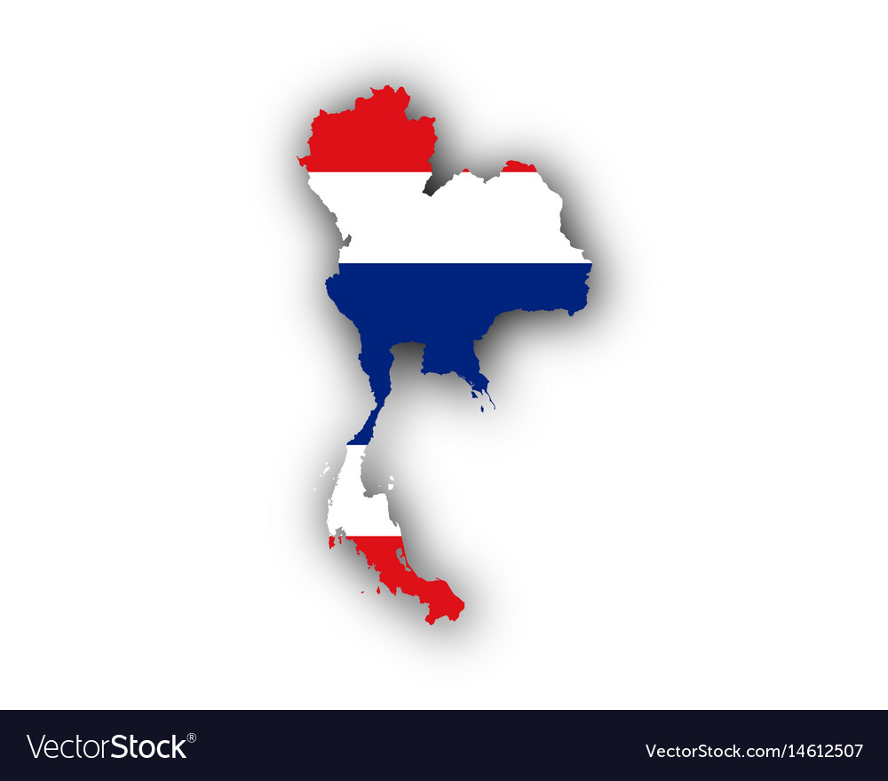 Map and flag of thailand Royalty Free Vector Image