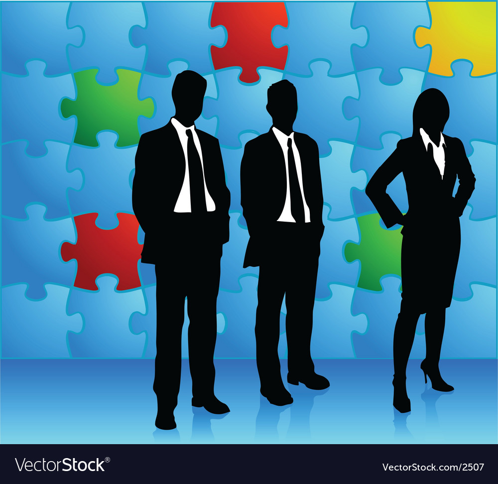 Puzzle business vector image