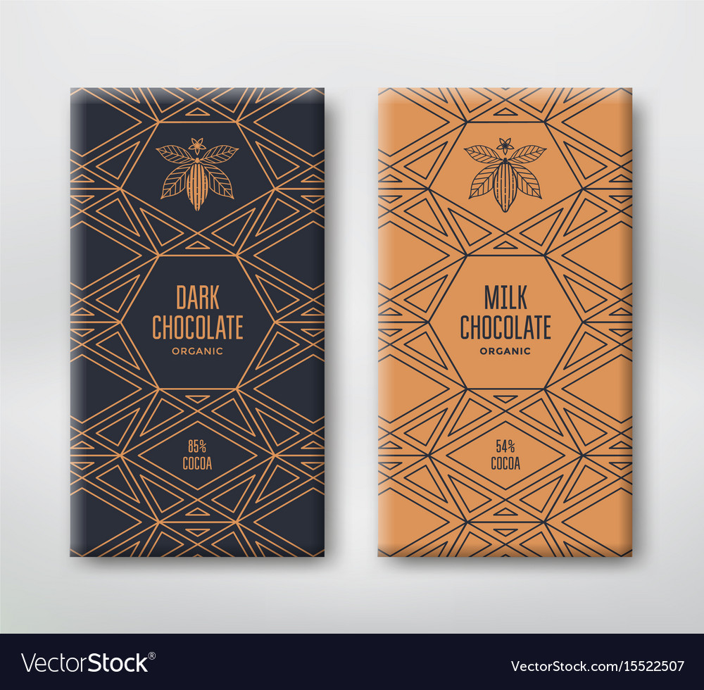 Set realistic vertical chocolate banners