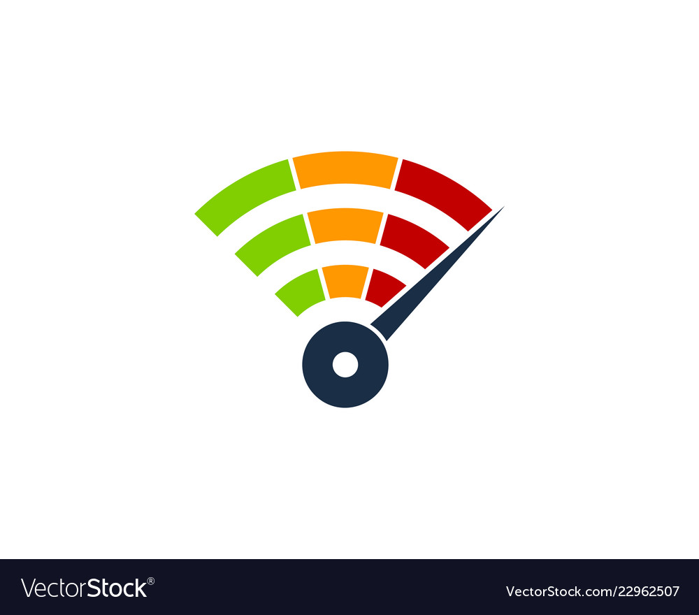 Speed wifi logo icon design