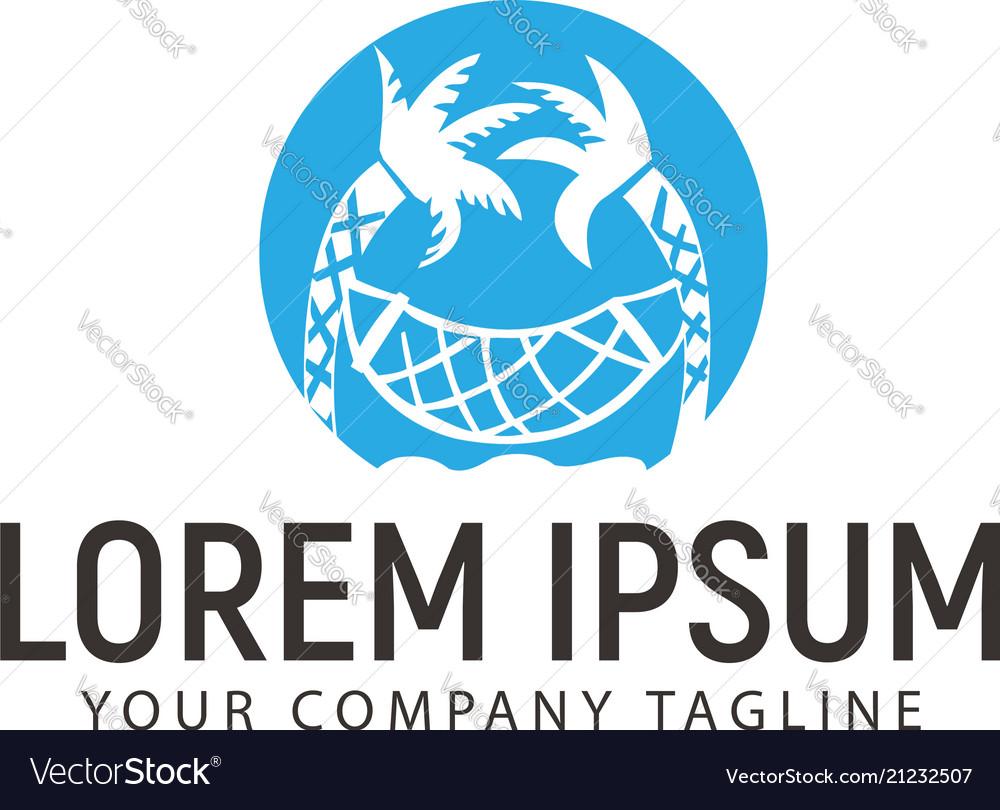 Summer logo beach design concept template