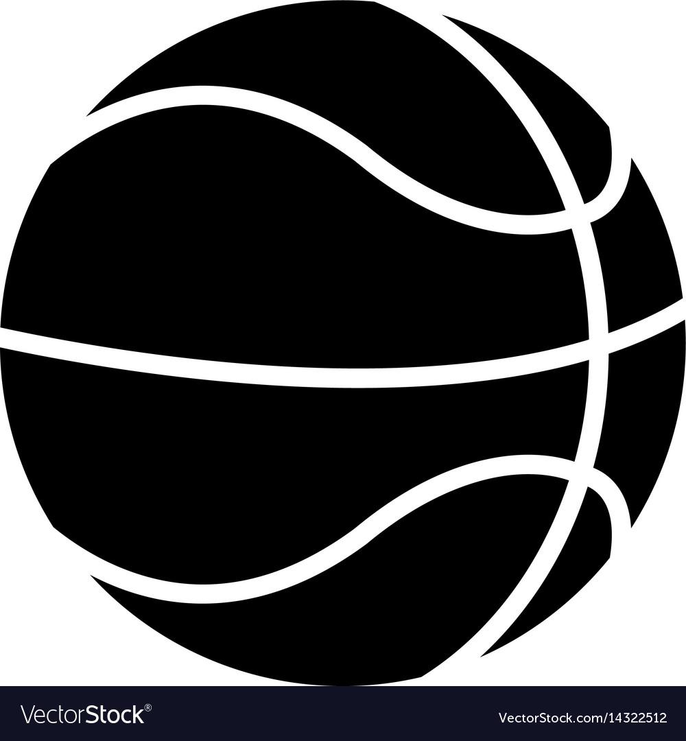 Basketball ball play pictogram