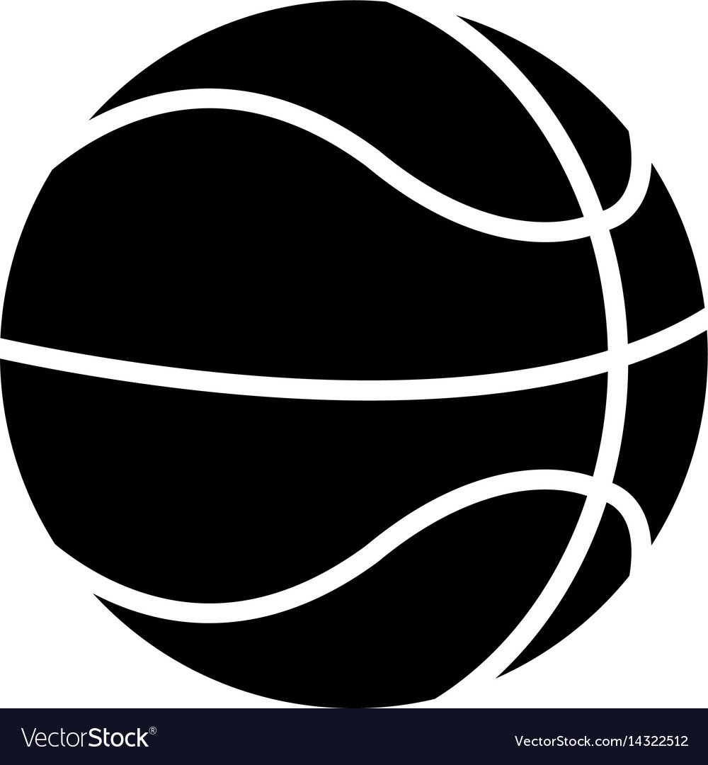 Basketball ball play pictogram vector image