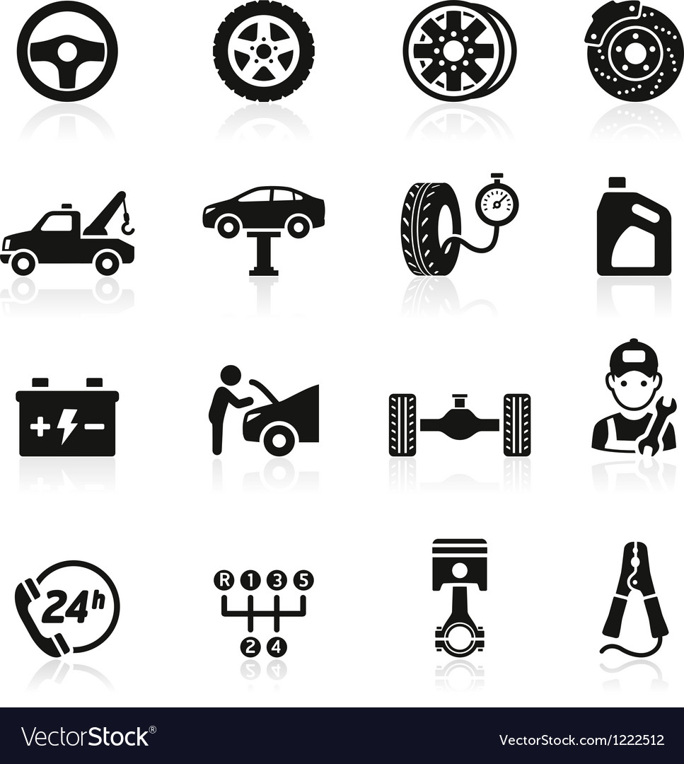 Car service maintenance icon