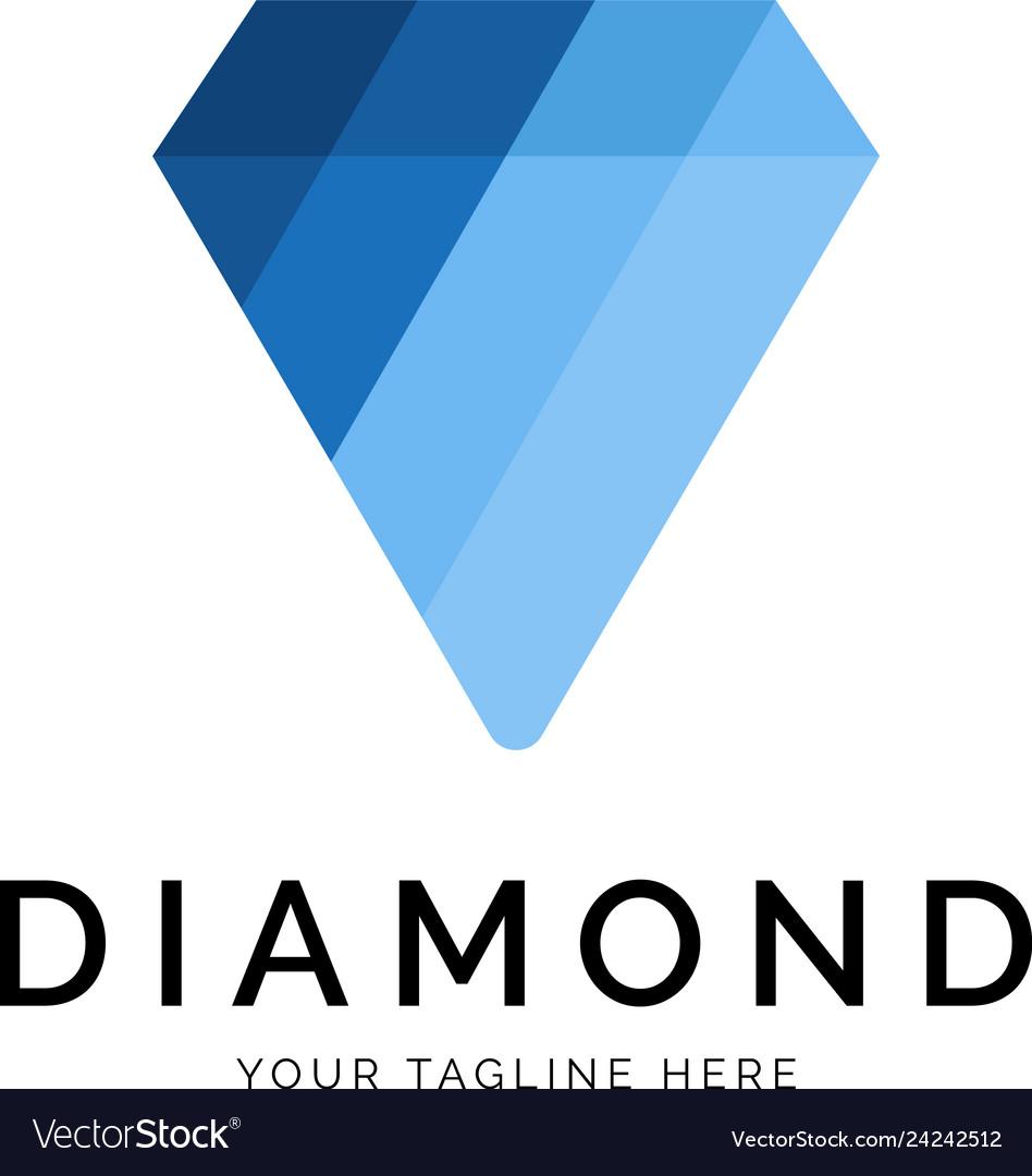 Diamond logo concept creative minimal design