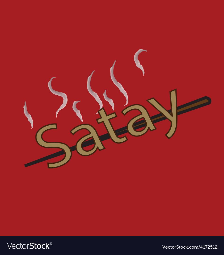 Satay vector image