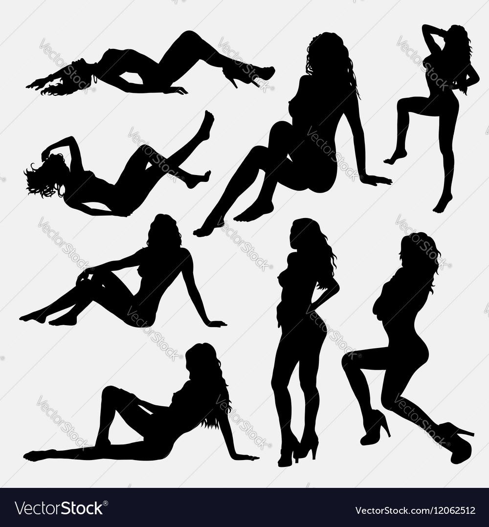 Sensual female silhouette vector image