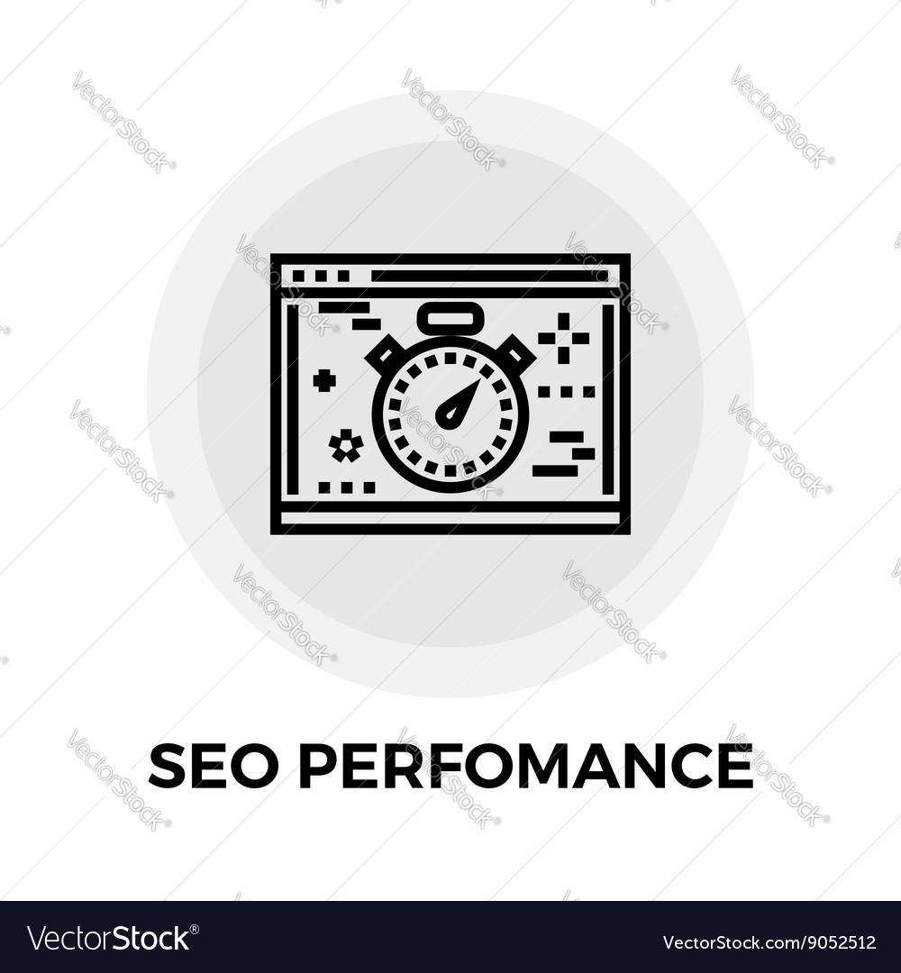 SEO performance Line Icon