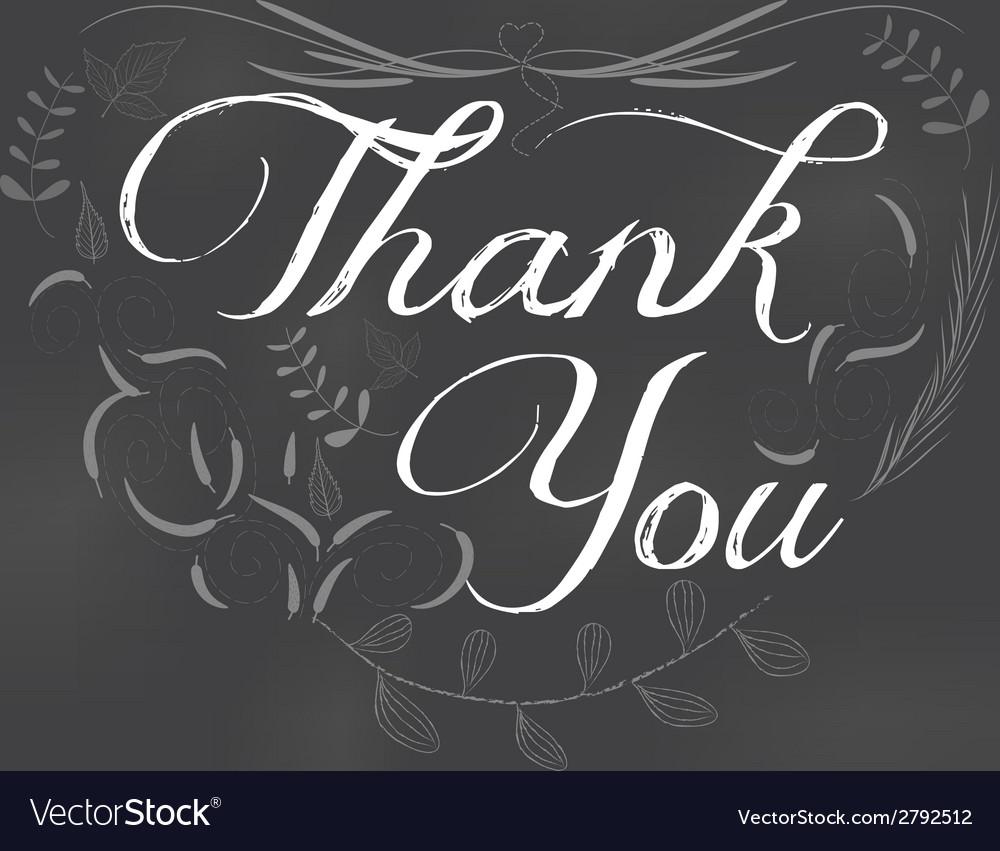 Thank you written on chalkboard