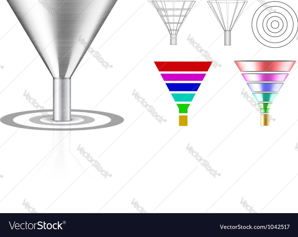 Conversion funnel vector image