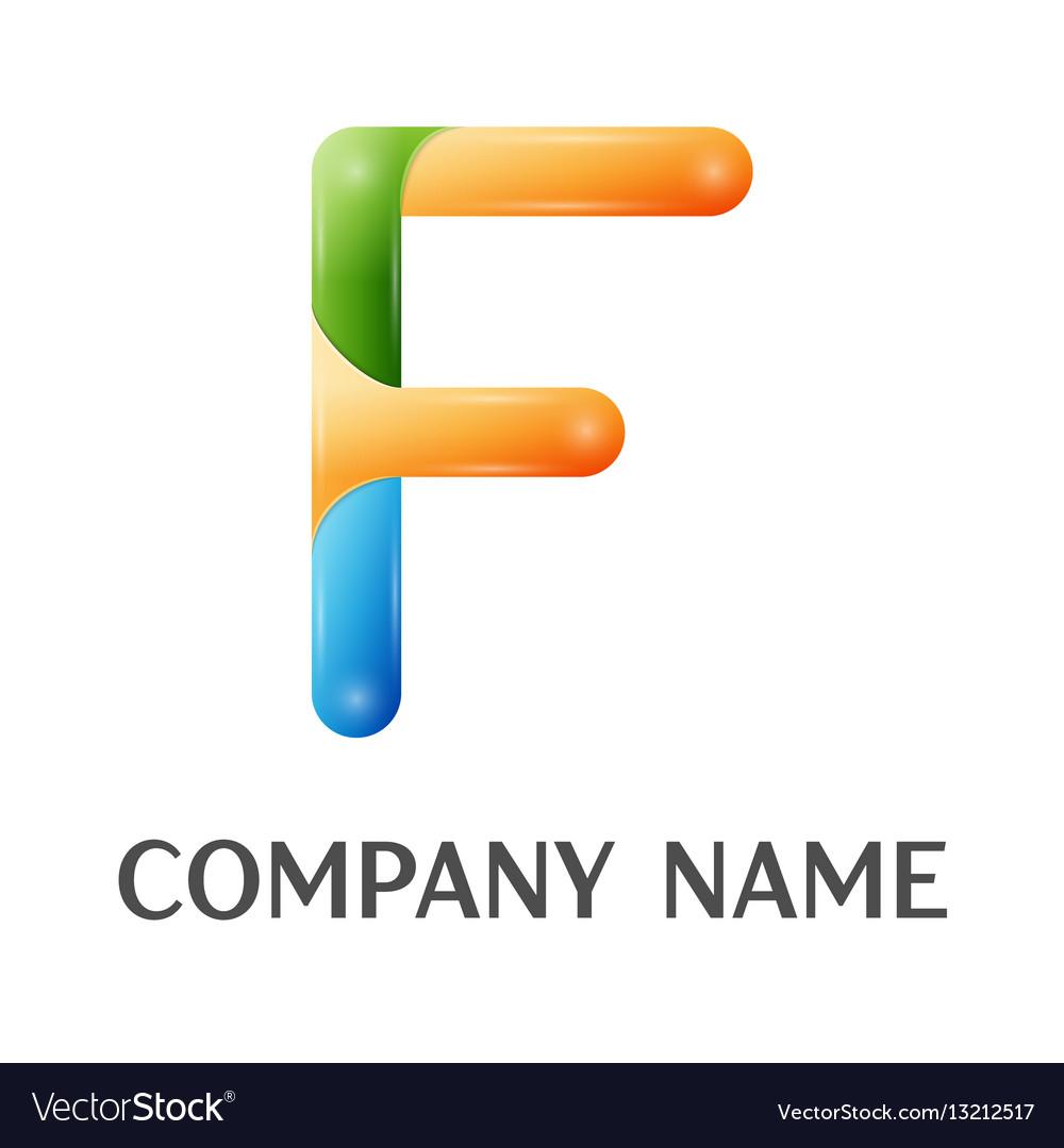 F letter colorful logo