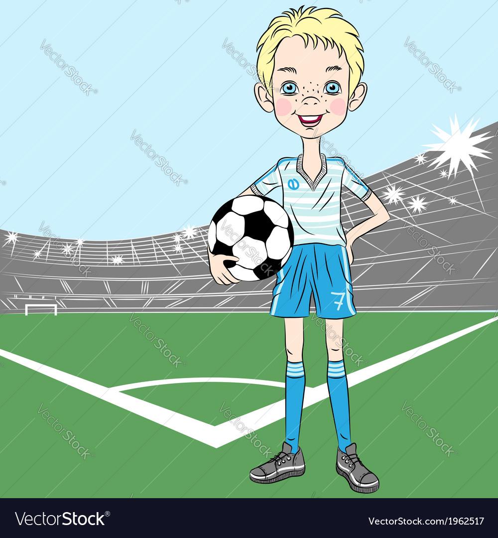 Football soccer player vector image