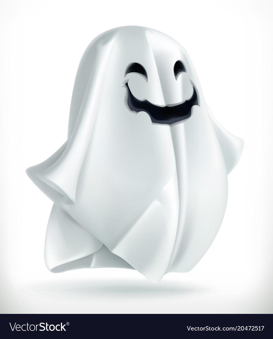 Ghost happy halloween 3d icon