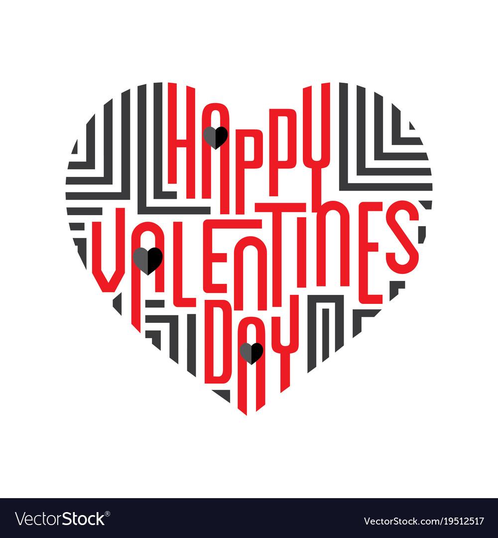 Happy valentines day greeting design