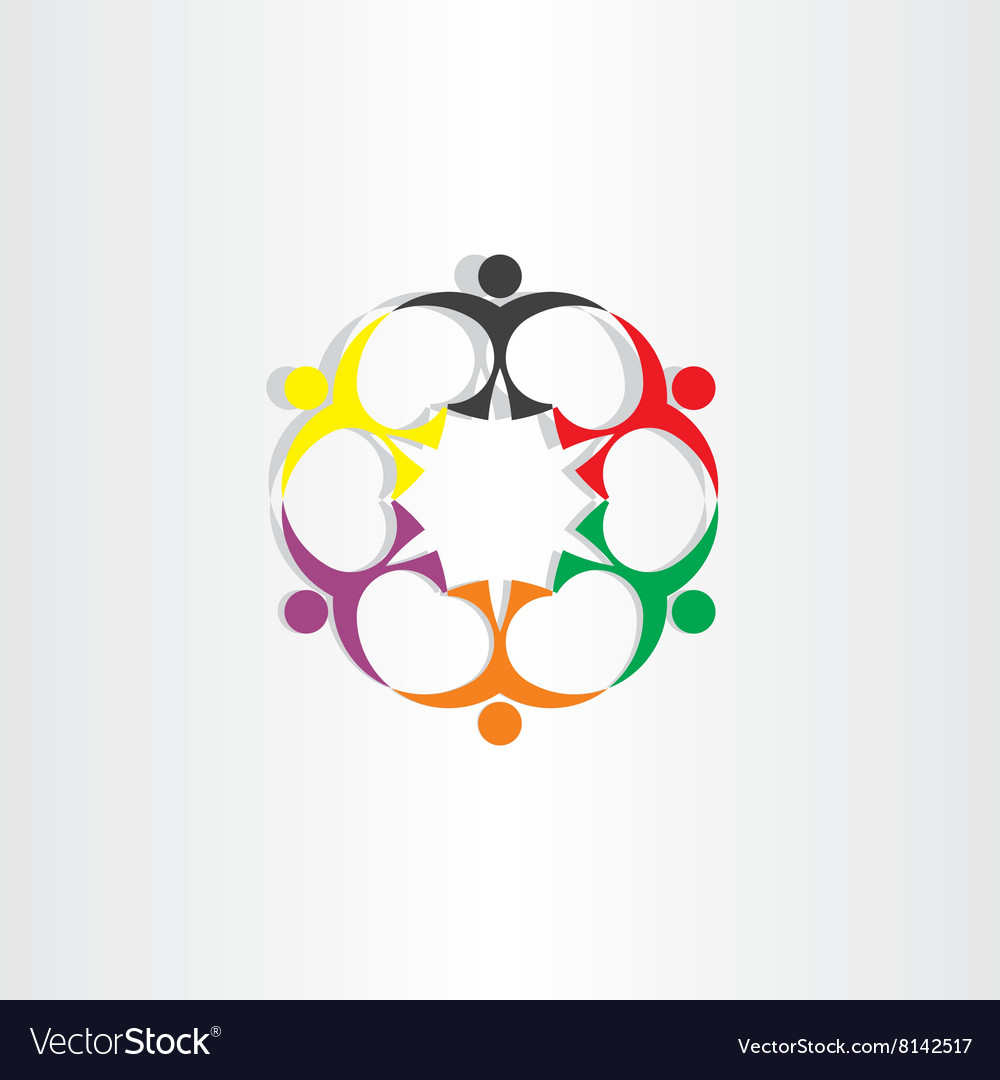 People teamwork team concept icon sign vector image
