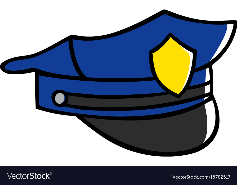 Полицейская фуражка картинки для срисовки