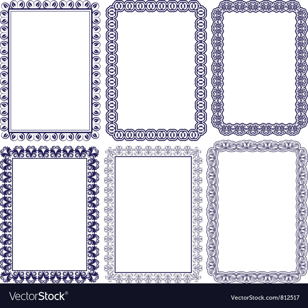 Rectangular frame with embellishments Royalty Free Vector