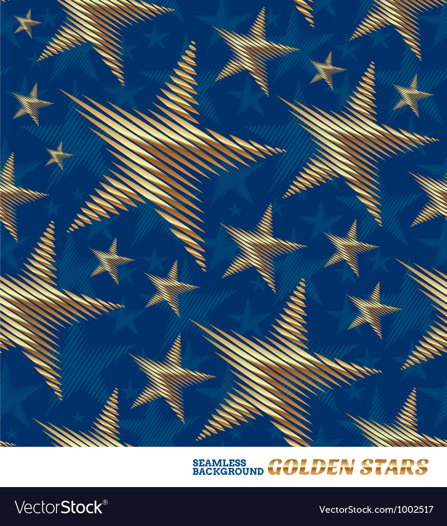 Seamless pattern with golden stars