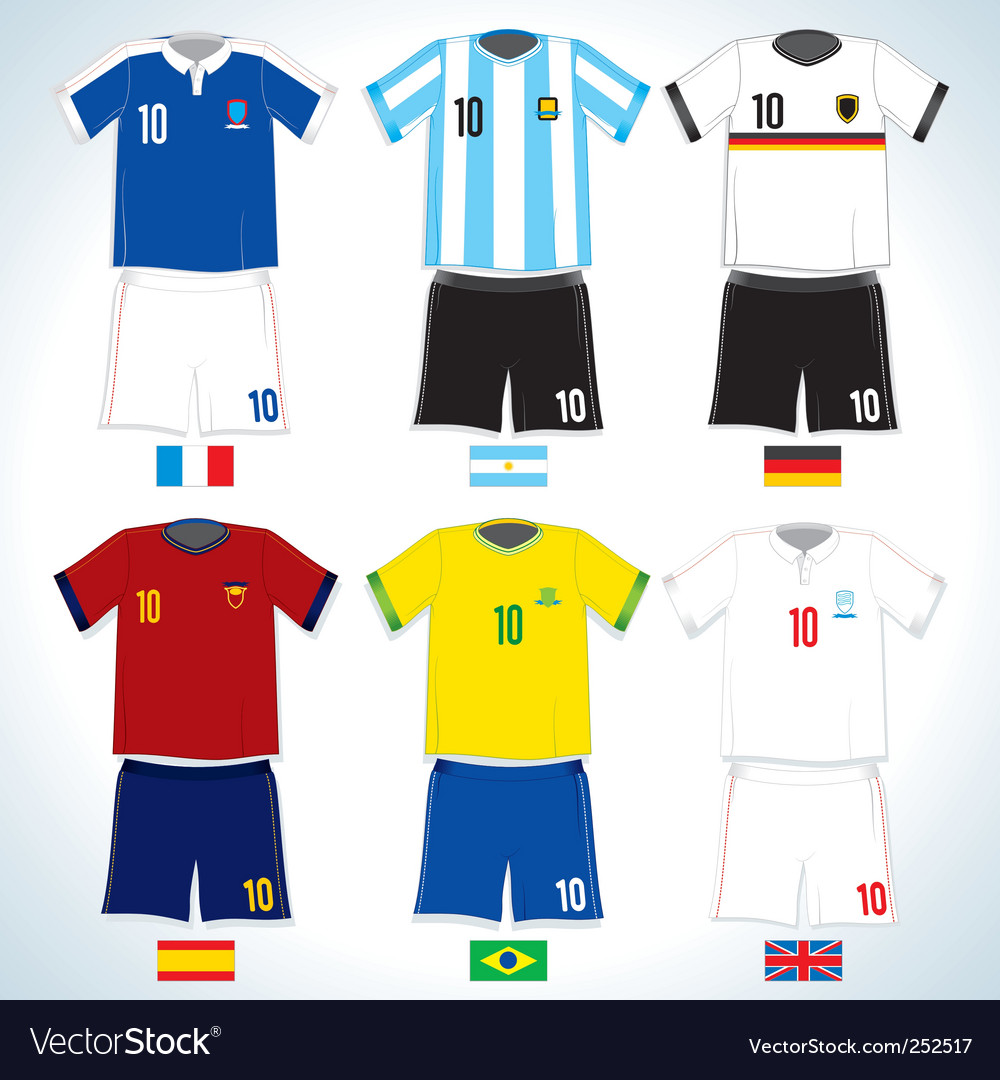 Soccer uniform vector image