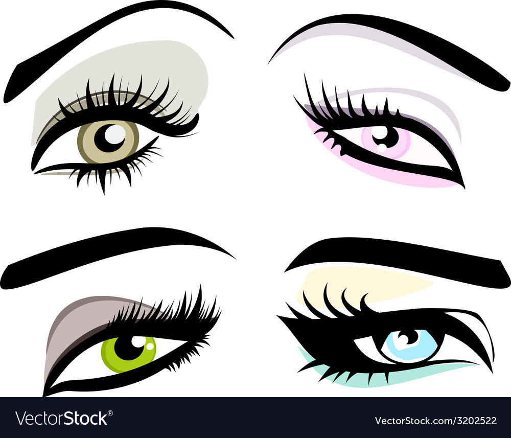 Beautiful girls eyes set
