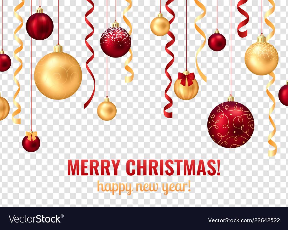 Christmas Balls Transparent Background