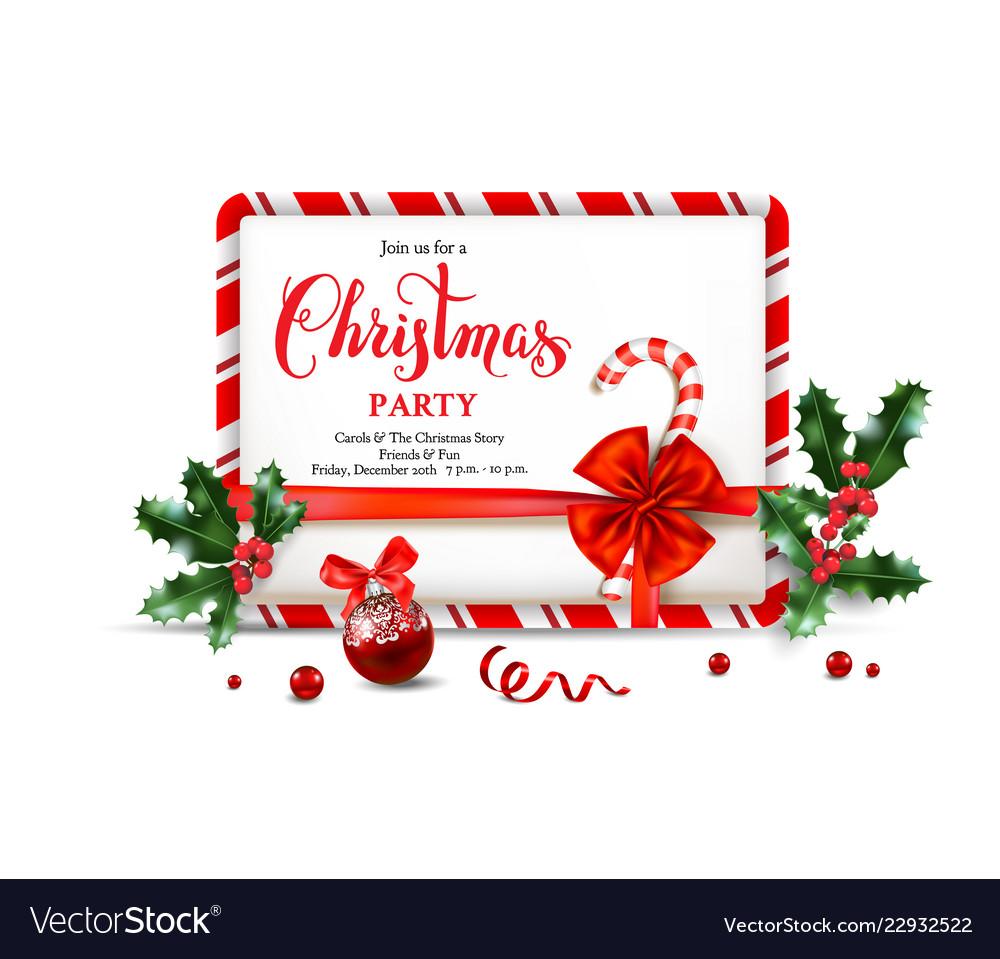 Christmas party invitation