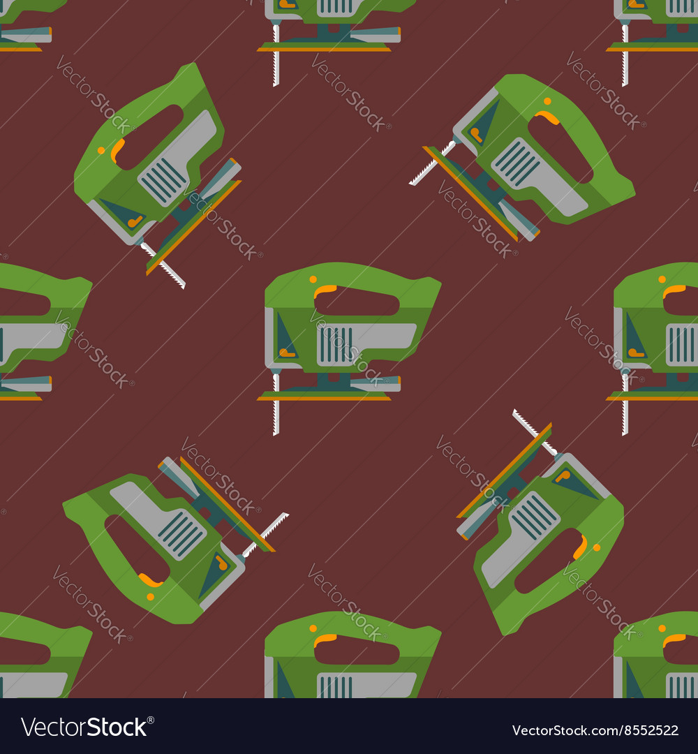 Electric jigsaw seamless pattern