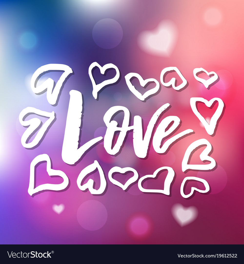 i love you calligraphy for invitation greeting vector image