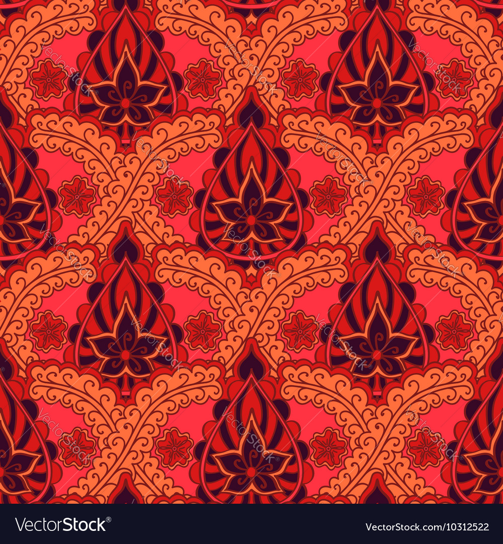 Seamless indian pattern Bright repeating