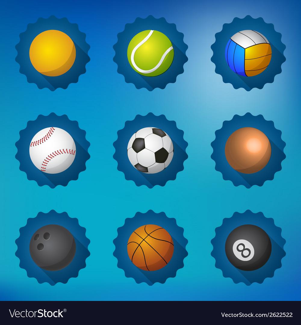 Sport balls football soccer volleyball etc flat