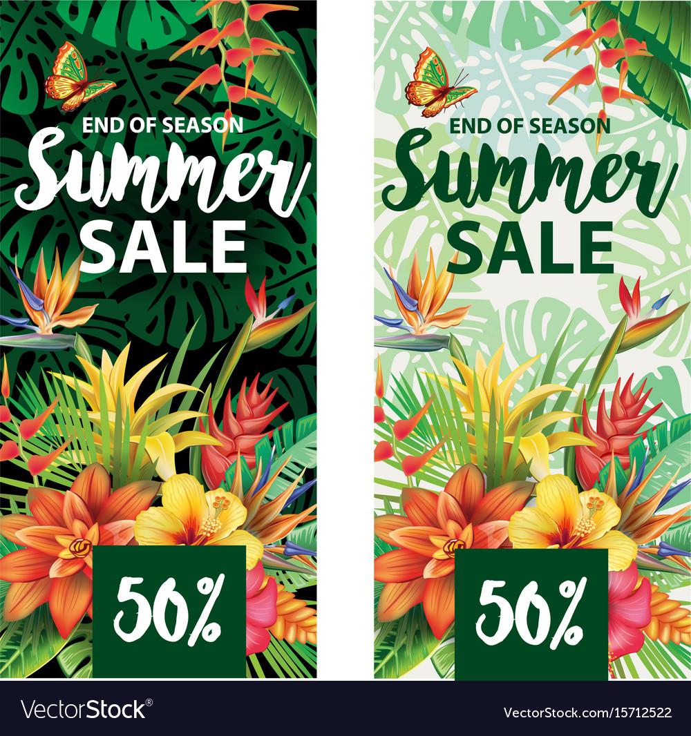 Summer sale banners design vector image
