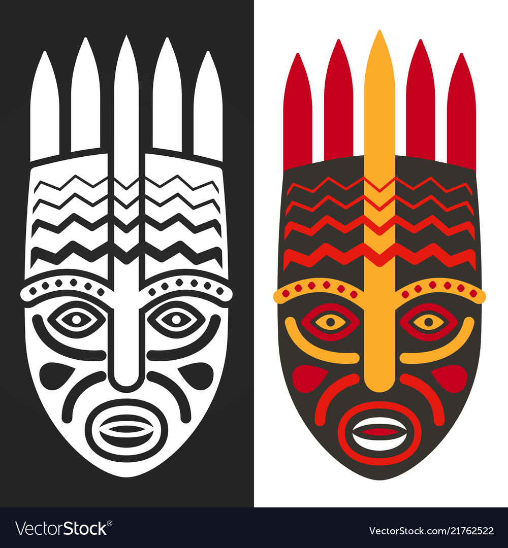 Tribal maya african masks